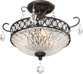 Quoizel qf2807 semi flush crystal ceiling light antique quoizel semi flush crystal ceiling light antique reproduction crystal ceiling lights brand lighting discount lighting call brand lighting sales to ask aloadofball Images