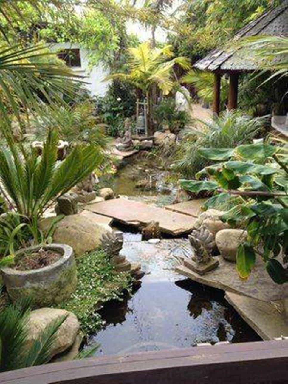 Indonesian Southeast Asian Garden Design Soothing Asian Garden Design In Garden And Lawn Cat Backyard Water Feature Asian Garden Water Features In The Garden