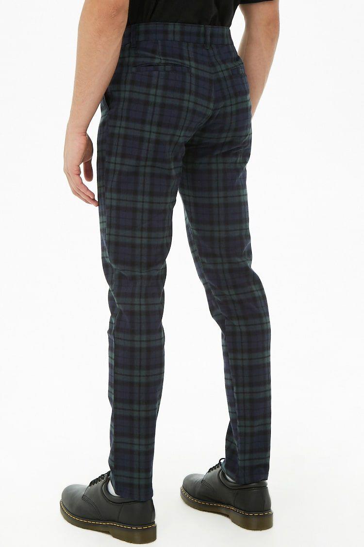 3ea2ba0fbf93 Plaid Flannel Skinny Pants