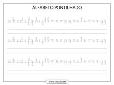 Resultado de imagem para alfabeto pontilhado manuscrito