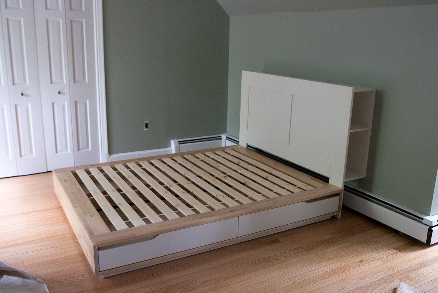 Bed Sample Divan In 2019 Ikea Mandal Headboard Brimnes Bed
