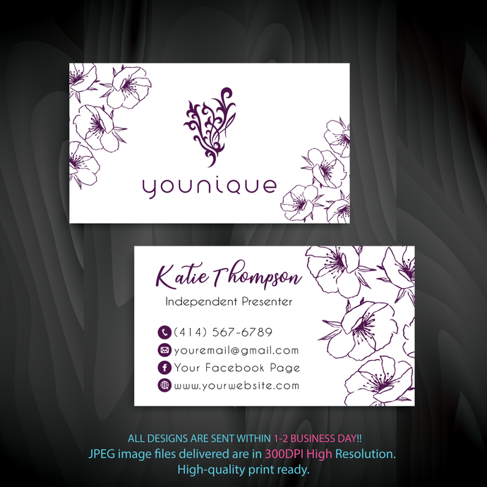 Personalized Younique Business Cards Custom Younique Cards Custom Business Card Younique Business Cards Yq01