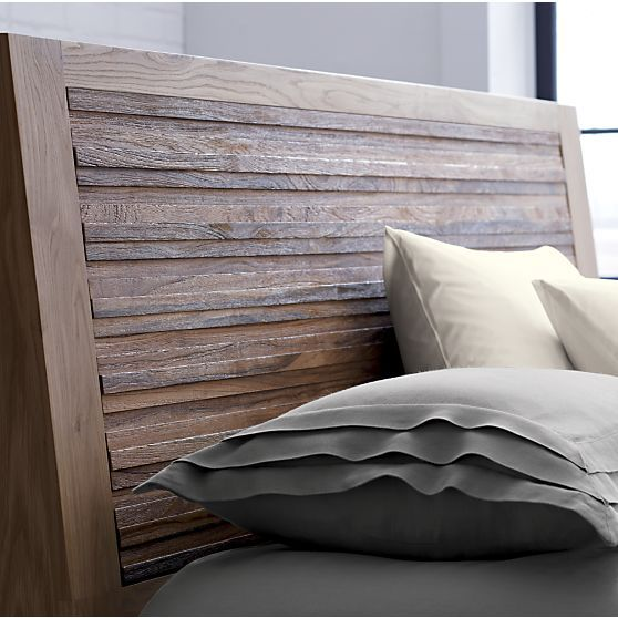 sierra queen bed - headboard detail | crate and barrel | bedrooms