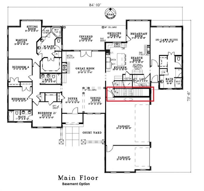 Country Ranch Plan Bedrms Baths Images Tuscan House