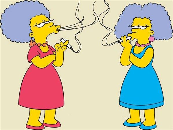 Patty and selma bouvier marge 39 s sisters who have rough - Marge simpson et bart ...