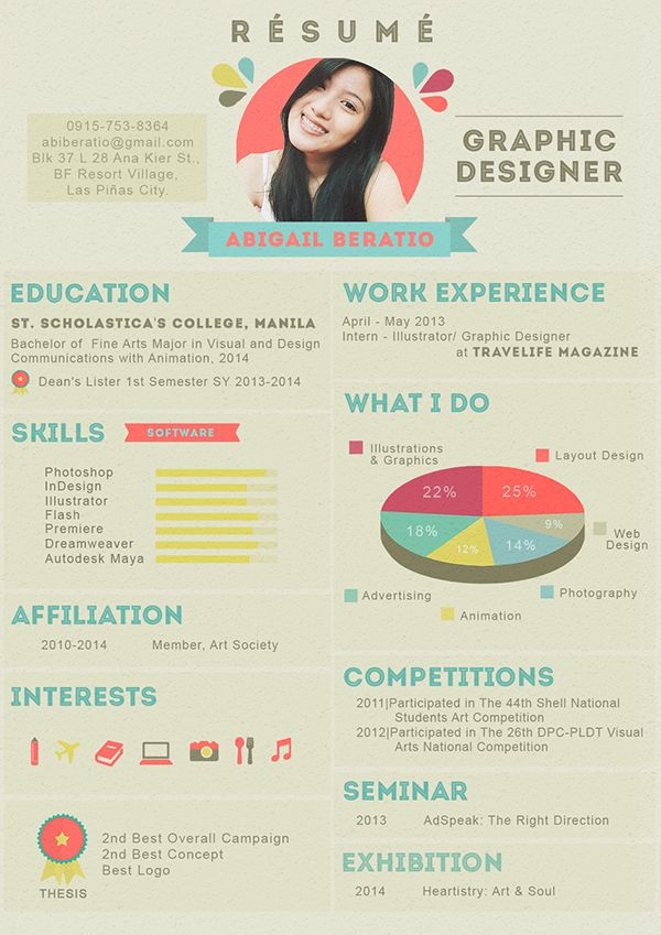 Creative Resume  Design    Creative And Info Graphic