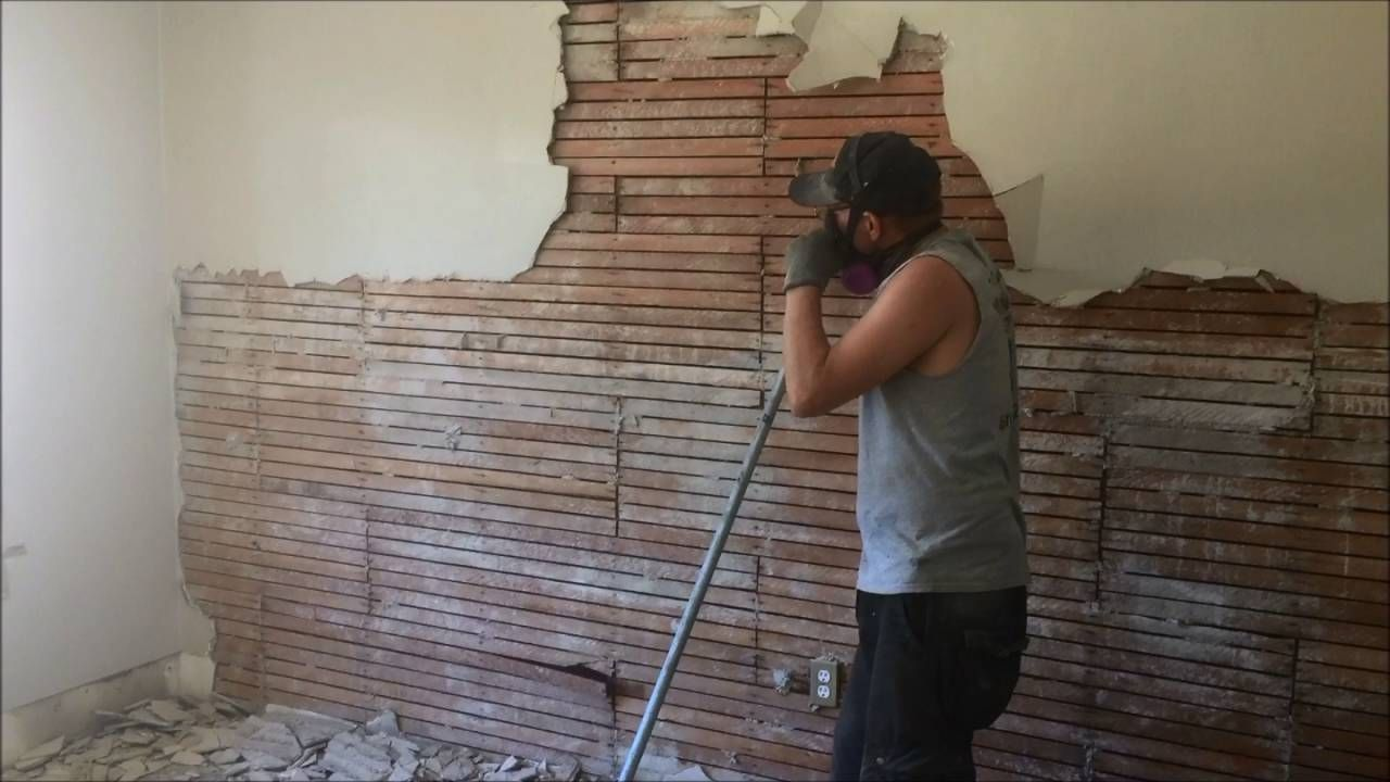 Diy How To Remove Plaster On Wood Lath Walls Diy Plaster Wood