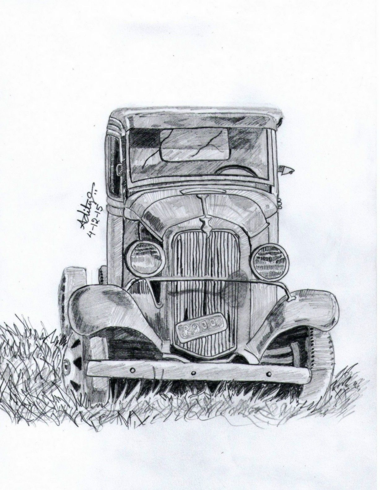 Vintage car pencil sketches in 2019 pencil drawings pencil art