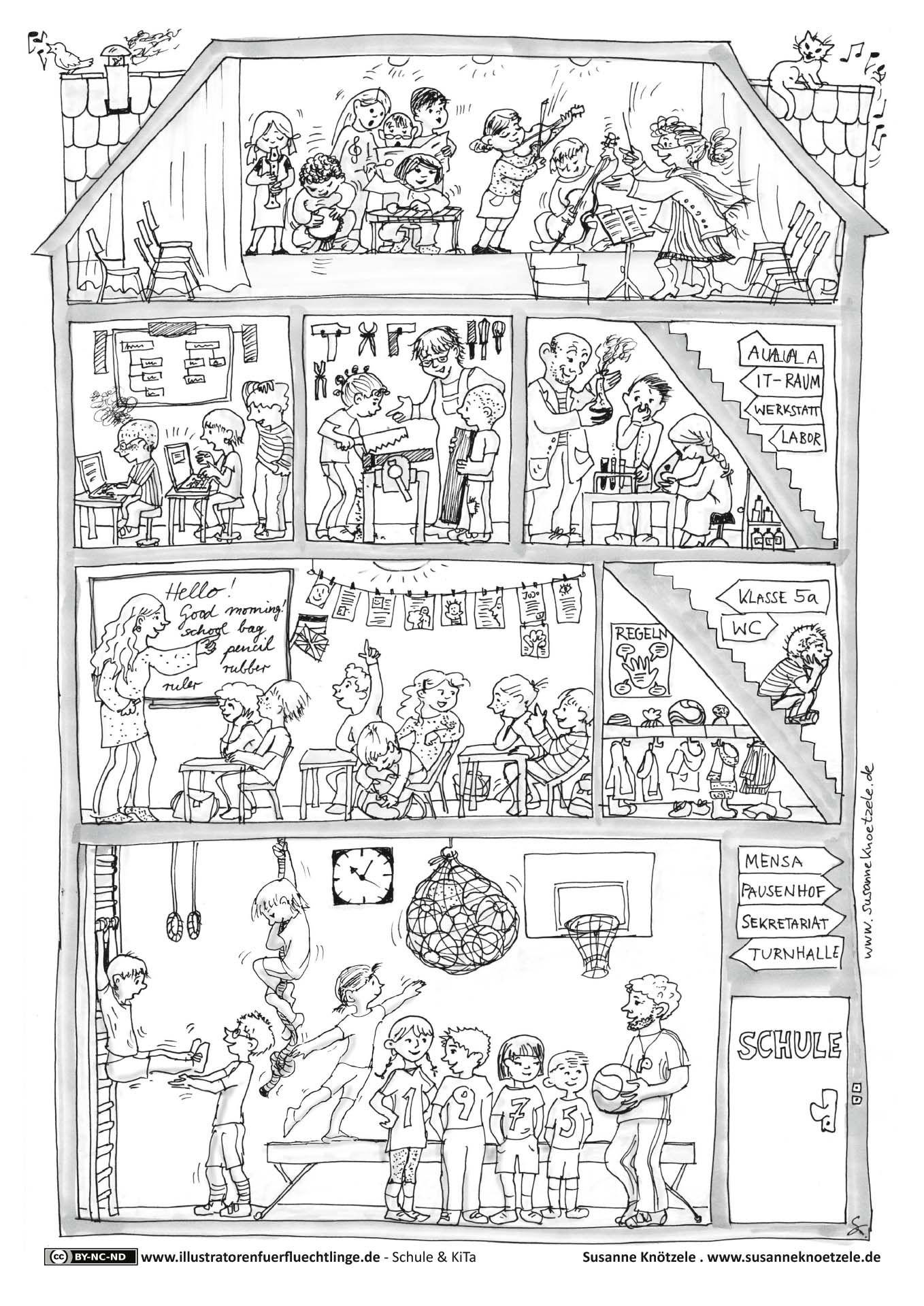 Schule und KiTa - Schule - Knötzele | Ausmalbilder | Pinterest ...
