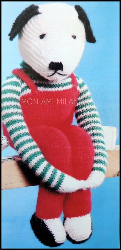 Knitting Pattern • Sitting Dog • Hound • Puppy • Canine • Cuddly Toy ...