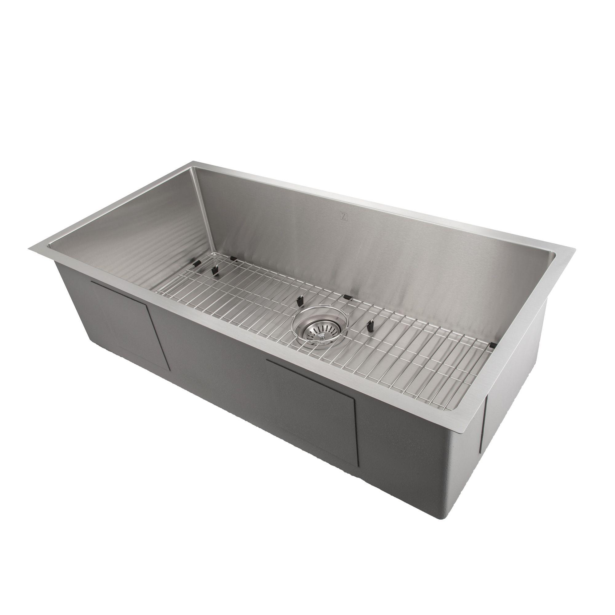 Zline Classic Series 33 Inch Undermount Single Bowl Sink In Stainless Steel Srs 33 Single Bowl Sink Kitchen Sink Design Sink