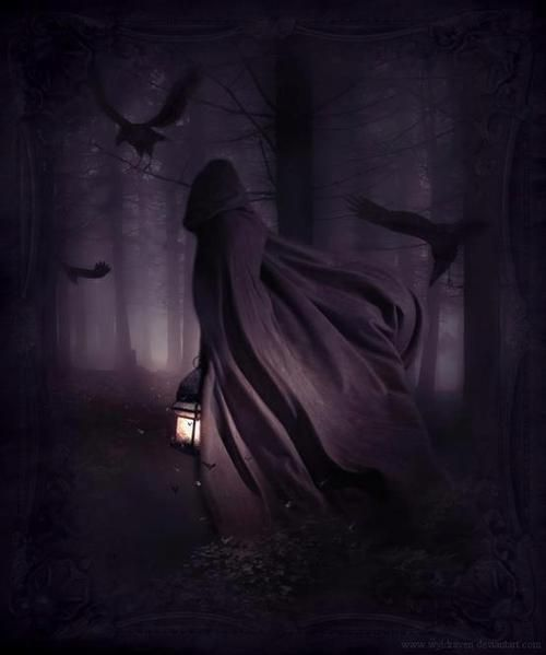 The Mysterious Traveler #mystery #mysterious #spooky #cloak #traveler # hooded #hoodedcape #darkness #darkart #paranormal #crows #ni… | Dark fantasy,  Fantasy, Dark