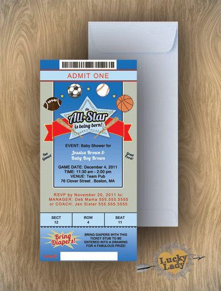 all star babyshower | 36 all star sports baby shower boy birthday, Baby shower invitations
