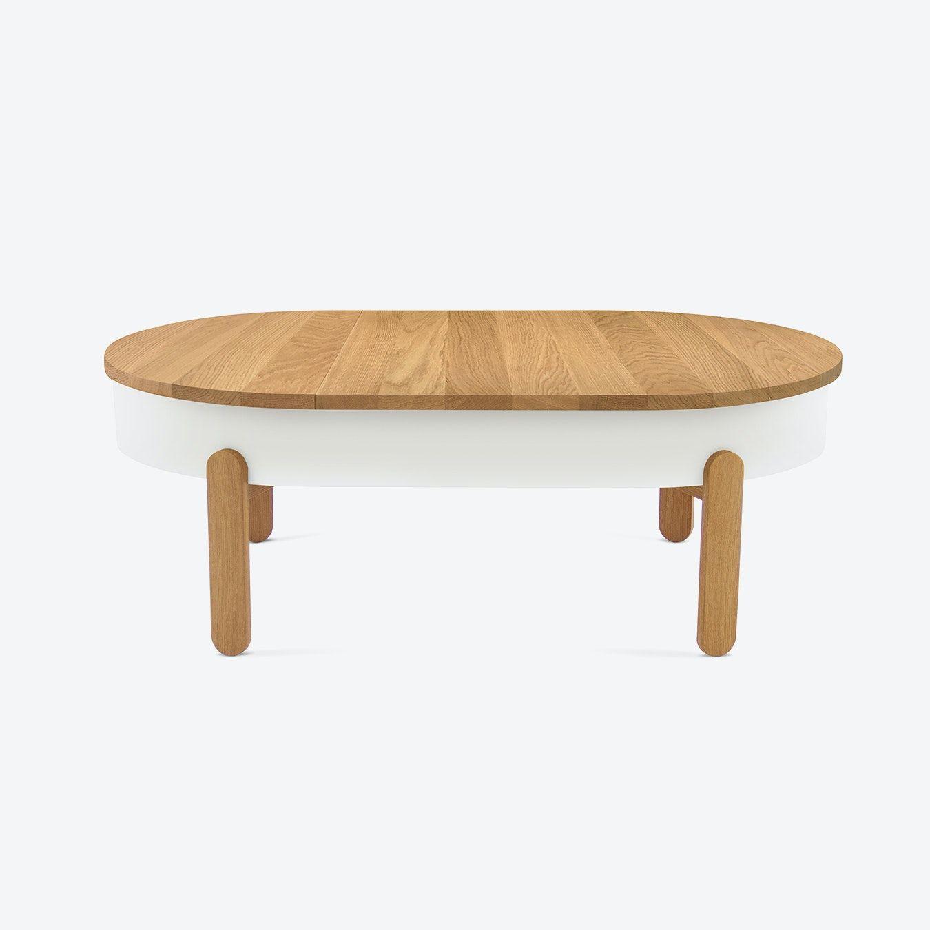 Batea L Coffee Table Oak White Coffee Table Wood Coffee Table Table Top Design [ 1350 x 1350 Pixel ]