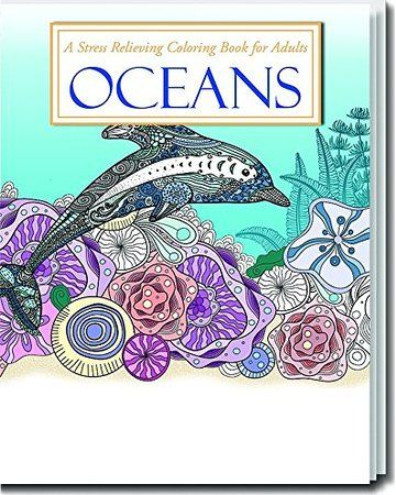 NEW! Oceans, Stress Relieving Coloring Book for Adults | Coloring ...