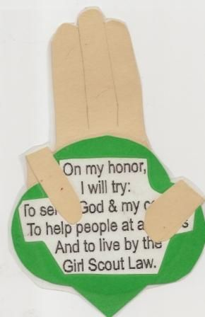 The Scout Promise magnet craft.  GREAT idea for cub scouts.