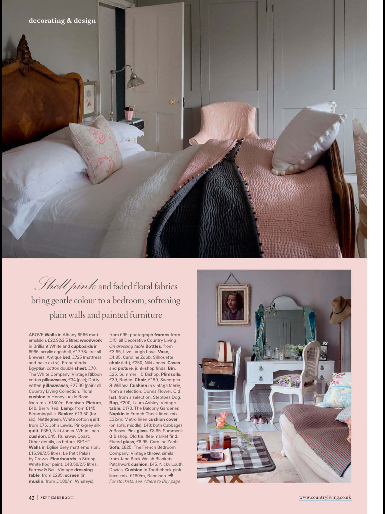 pink/grey room