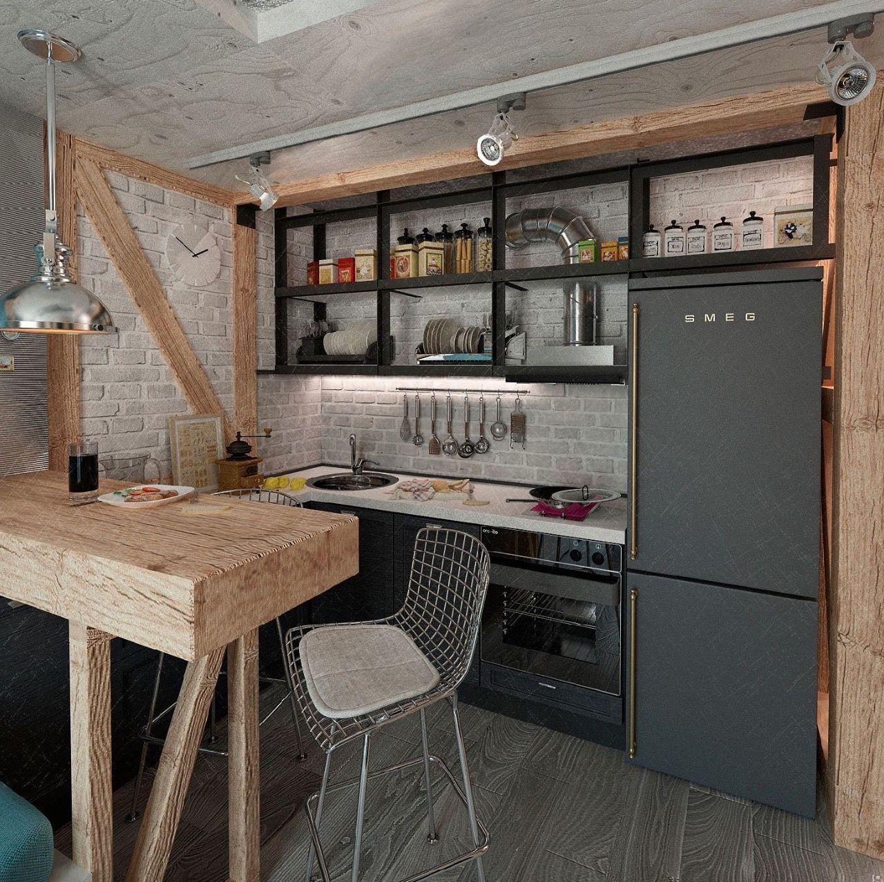 кухня в стиле лофт в хрущевке фото 16 тыс изображений найдено в