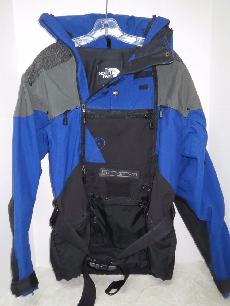 9cdad8e94 The North Face Steep Tech Jacket Coat Scot Schmidt Blue Black Sz M ...