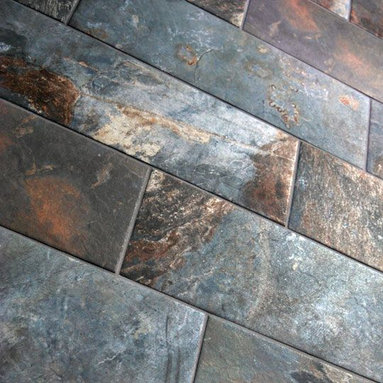 Chennai Stone Is A Slate Effect Inkjet Ceramic Red Clay Glazed