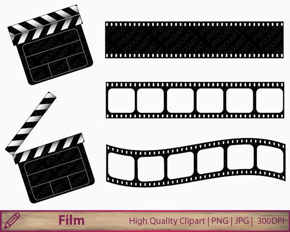 Cinema clipart  Movie clipart, film clapperboard clip art, film strip clipart ...