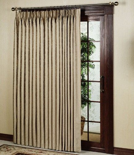 Gabrielle Insulated Pinch Pleat Patio Panel Taupe