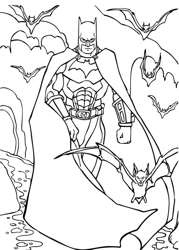 Batman Coloring Pages Kids Crafts And Activities Daily