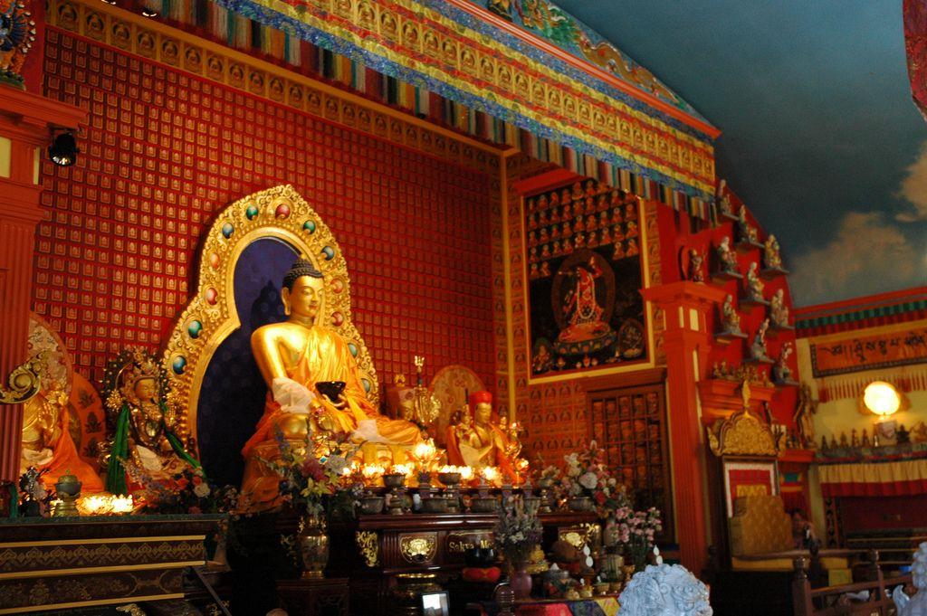Contemporary Buddha, Shrine, Vajrayogini Painting, Lamau0027s Throne, Sakya  Monastery Of Tibetan Buddhism