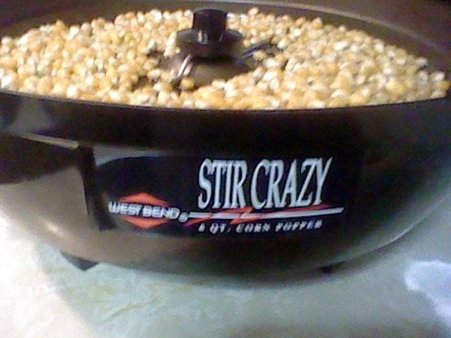 "West Bend ""Stir Crazy"" with Popping Corn!! www.westbend.com Photo by Janice Marshall"