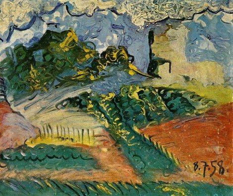 Pablo Picasso, 1958 Paysage on ArtStack #pablo-picasso #art