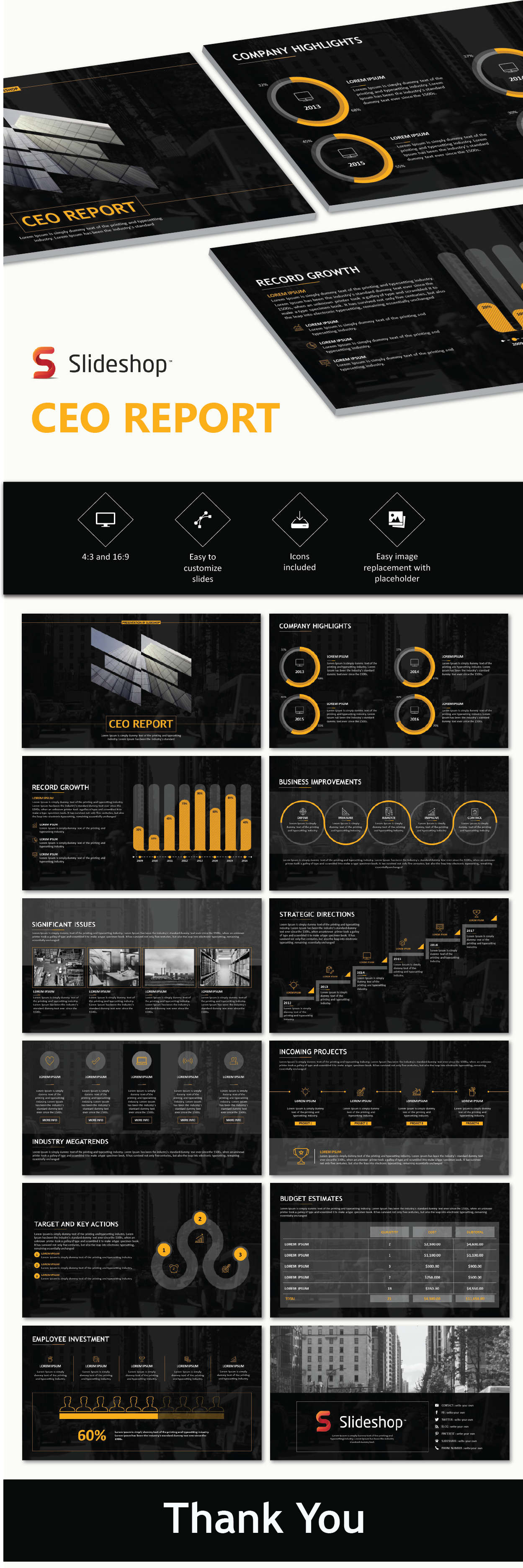 CEO report PowerPoint templates | Business & Marketing PowerPoint ...