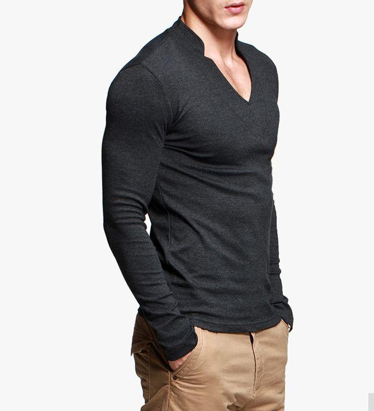 Wholesale New Pattern Cheap Deep V-neck Tall Dri Fit Plain White Bulk Blank T  Shirts for Men 5ef94dd5b