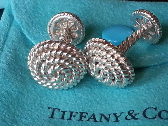 Tiffany & Co. ~ Solid Silver Rope Cuff Links ~ Very Rare ~ Stunning
