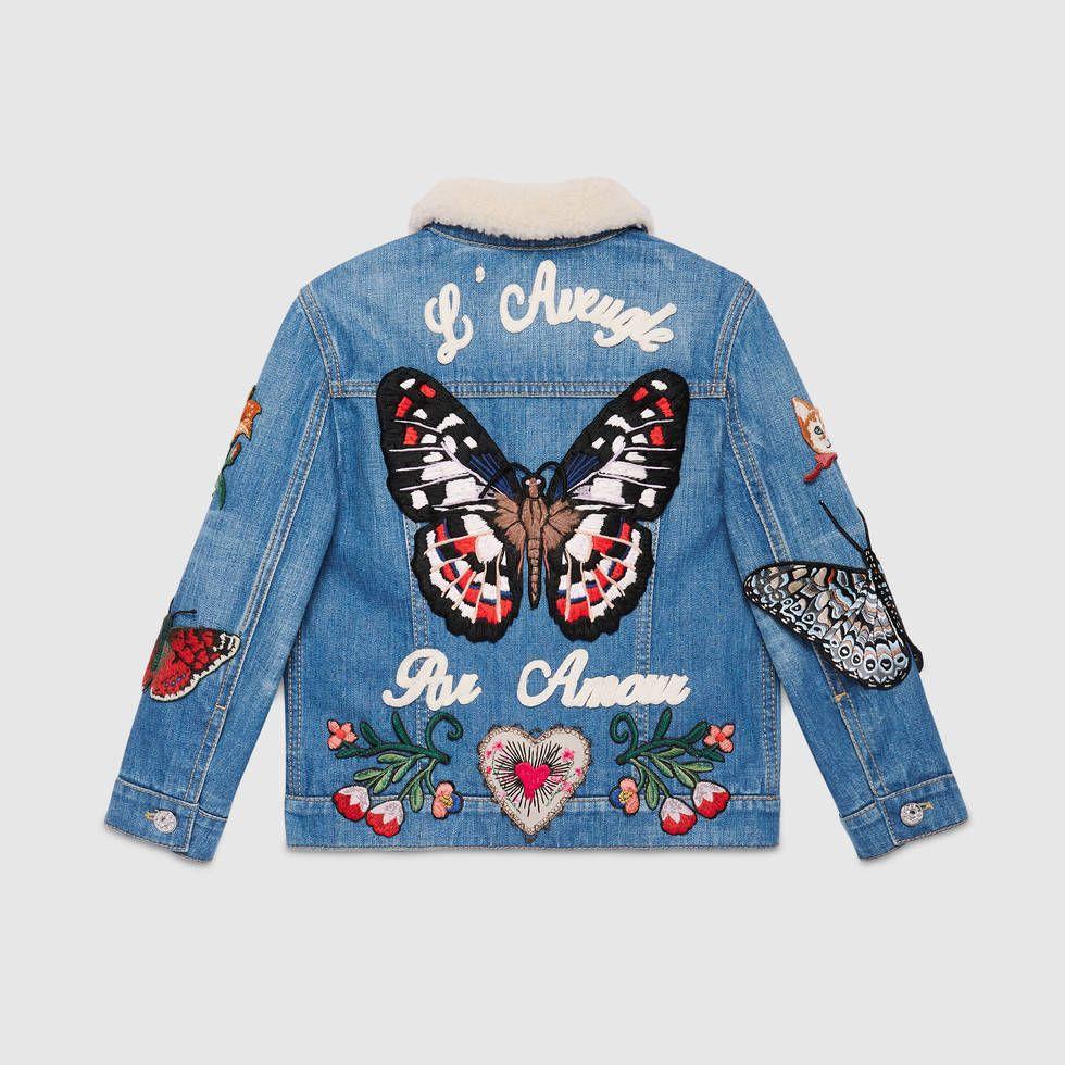62c277631a5 Gucci Children s embroidered denim jacket