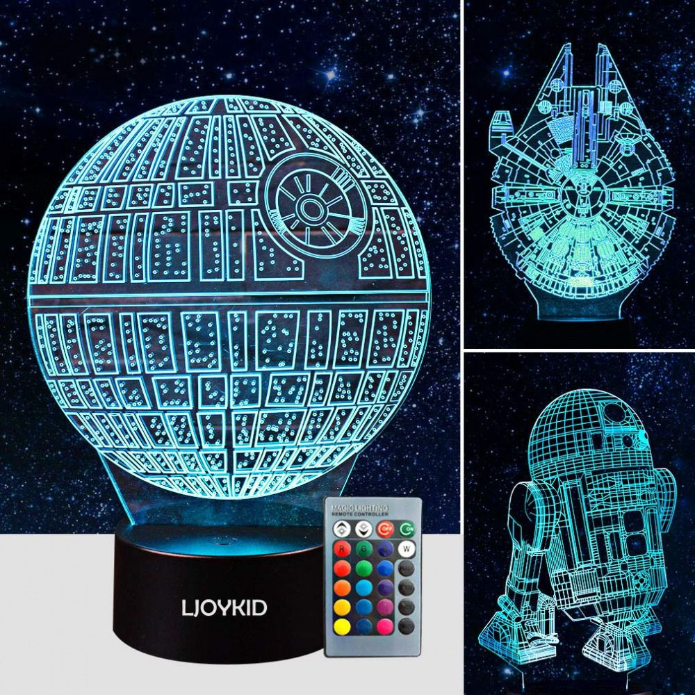 3d Led Illusion Lamp Star Wars Night Light Three Pattern Kids 7 Color Change Ljoykid Hermine