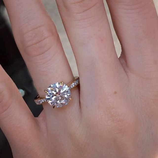 Another Brand New Round Diamond Engagement Ring Design From Tapered Channel Set Engagement Ring Engagement Rings Channel Set Channel Set Engagement Rings Round
