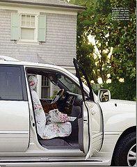 rose covered car set slim paley