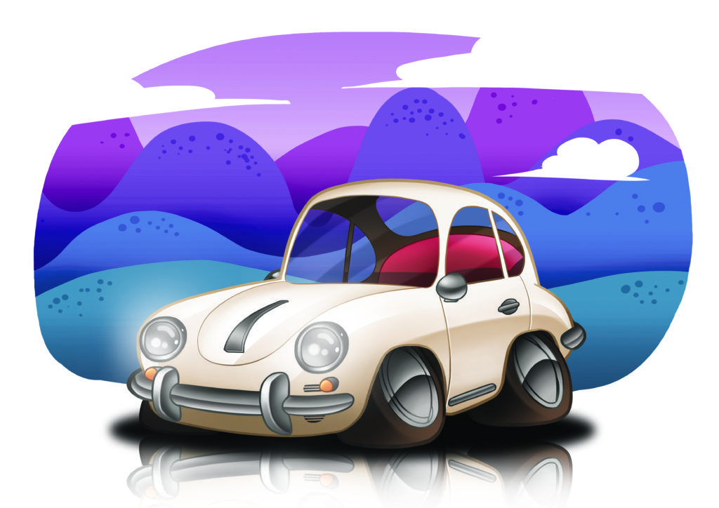 Porsche 356 Cartoon – Pin it, share it, use it on your site :) For more classic …