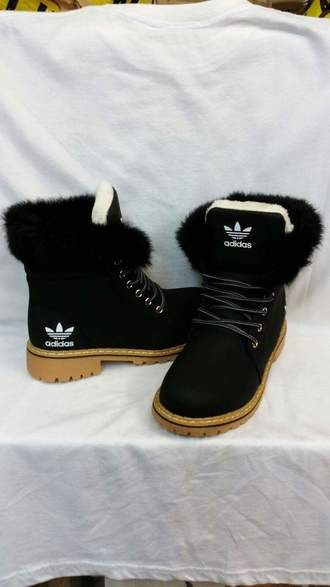 ad9b037a7153 shoes fur black adidas boots adidas shoes black boots brown winter boots  adidas originals black and white white adidas boots adidas boots with fur  addidas ...