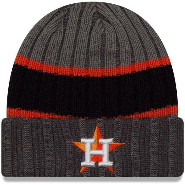 783722e226a ... cheapest houston astros new era stripe chiller cuffed knit hat graphite  a1606 9ffad