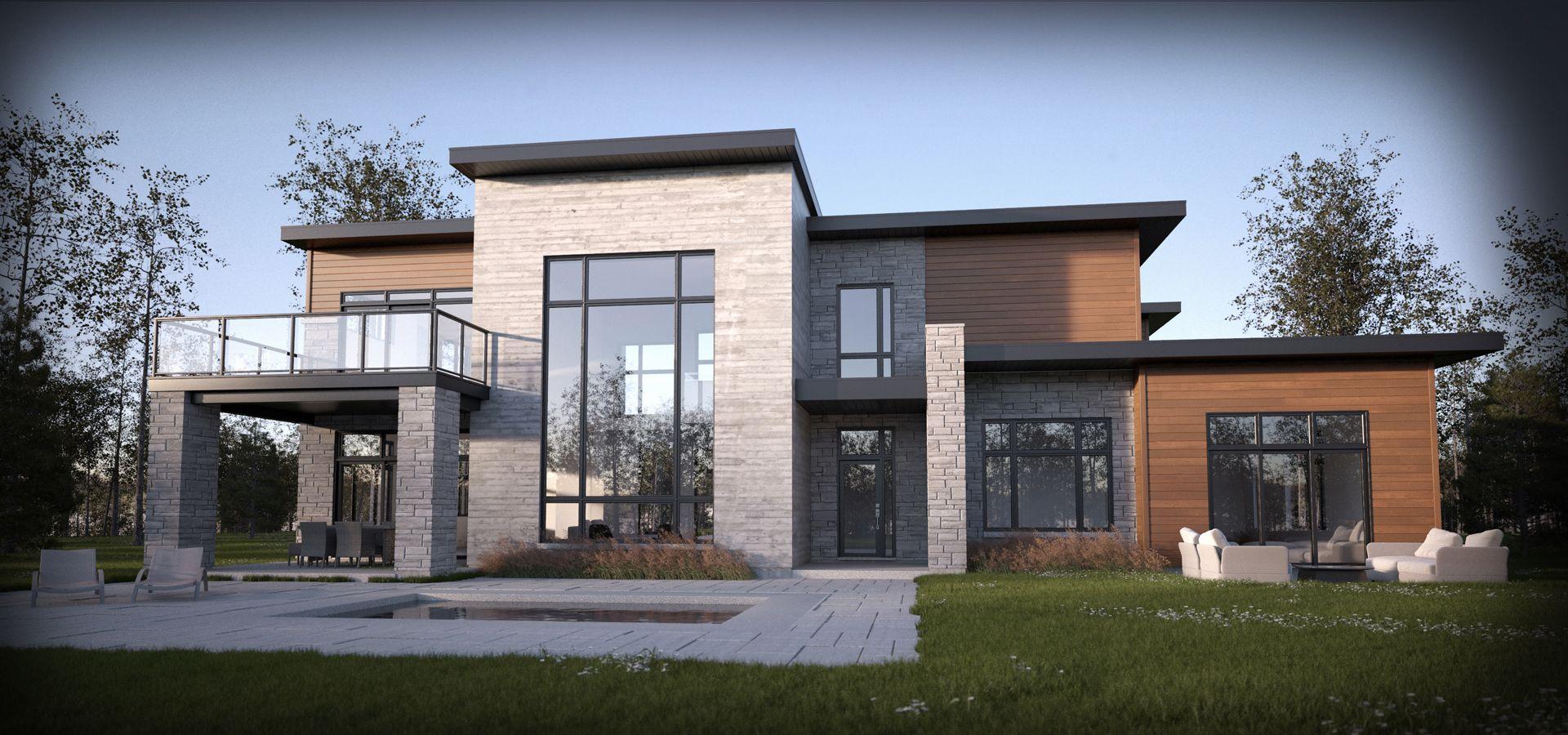 Maison en 2019 maison laprise maison quebec et plan maison - Plan de maison quebec ...