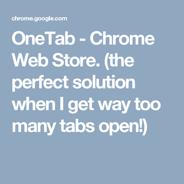 Chrome Web Store. (the perfect solution when I