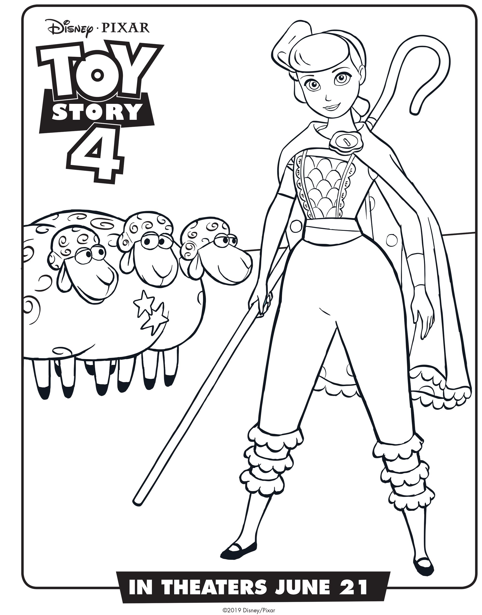 Toy Story 4 Bo Peep Coloring Sheet Disney Toy Story Coloring Pages Disney Coloring Pages Coloring Pages For Kids