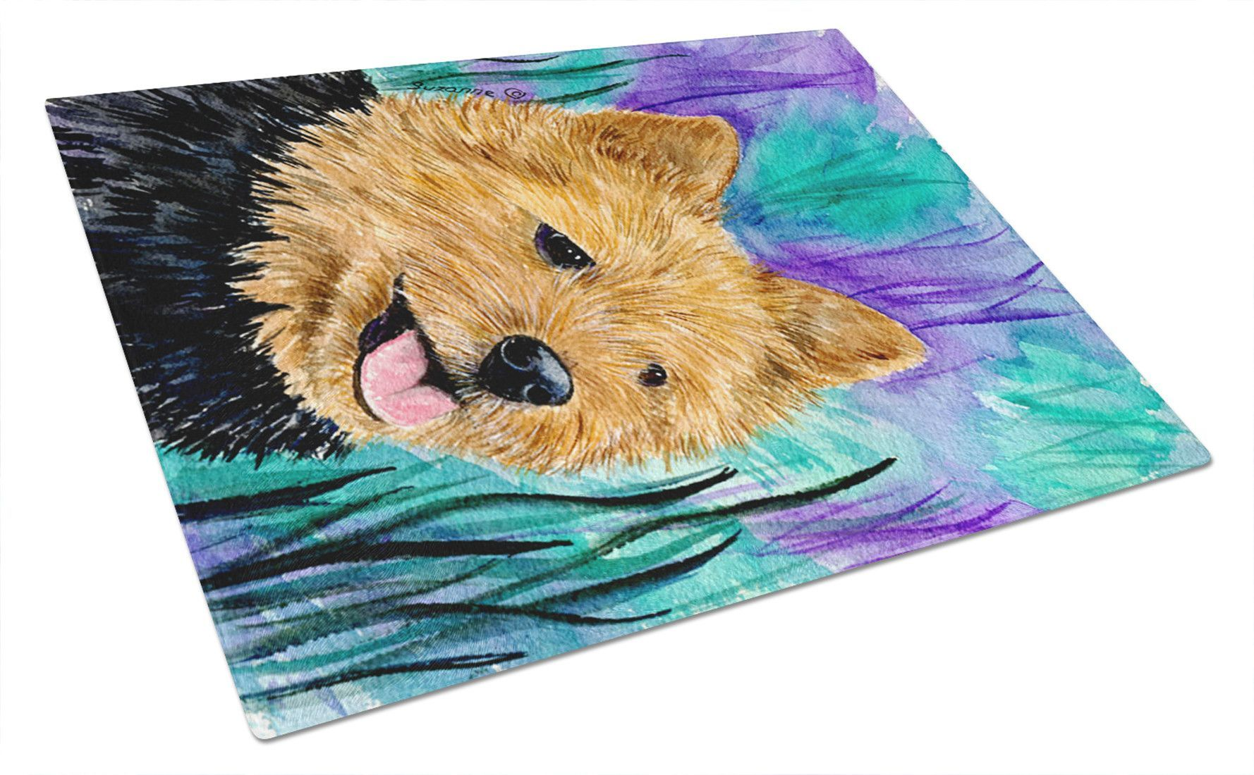 Norwich Terrier Glass Cutting Board Large