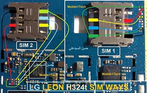 LG Leon H324 Insert Sim IC Solution Jumper Problem Ways | Y