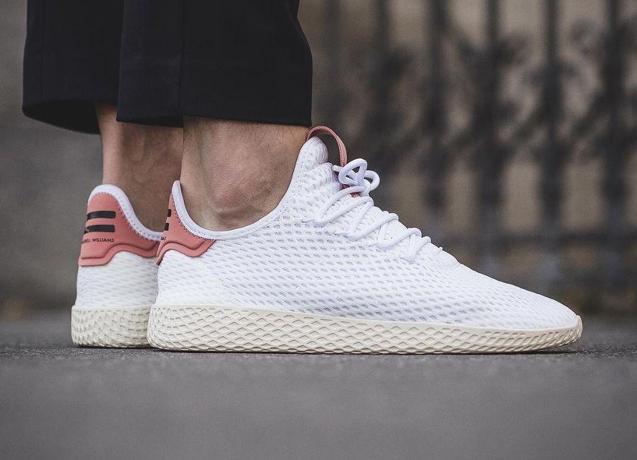 Pharrell Williams x Adidas Tennis Hu Pastel White Raw Pink