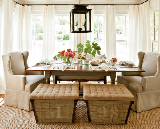 Light and airy dining room