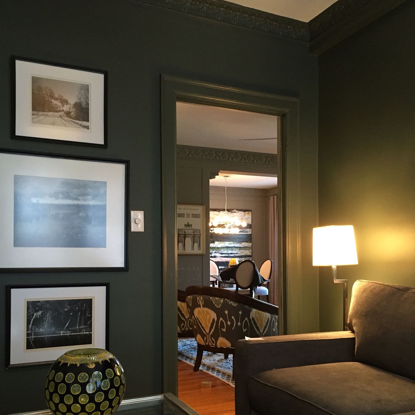 My Den In Pewter Greensherwin Williams  My Home Pinterest Custom Den Living Room Review