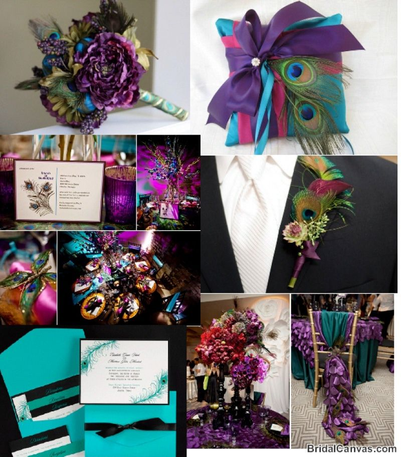 Peacolor Wedding Ideas: Colors Not So Much Peacock