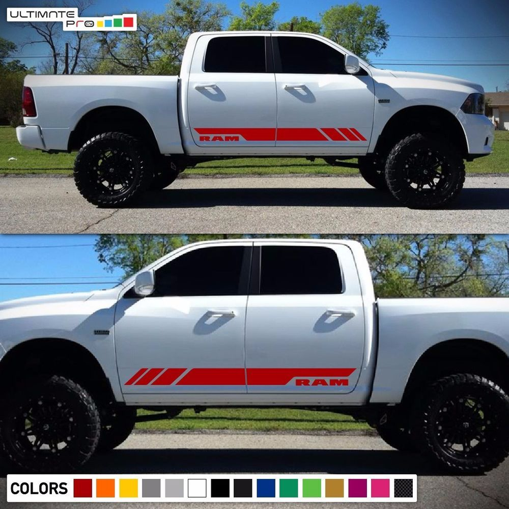 Side Stripe Decal Graphic Sticker Kit for Dodge Ram 1500